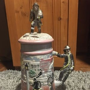 Vintage Firefighter Beer Stein